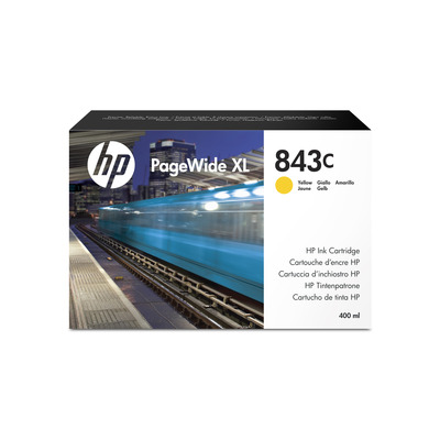 HP 843C 400-ml Yellow PageWide XL Ink Cartridge