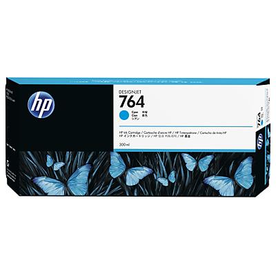HP 764 300-ml Cyan Ink Cartridge