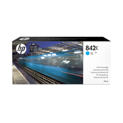 HP 842C 775-ml Cyan PageWide XL Ink Cartridge