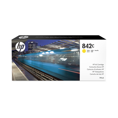 HP 842C 775-ml Yellow PageWide XL Ink Cartridge