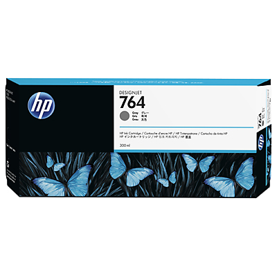 HP 764 300-ml Grey DesignJet Ink Cartridge