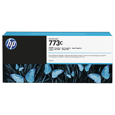 HP 773C 775-ml Photo Black DesignJet Ink Cartridge