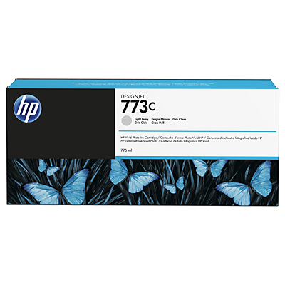 HP 773C 775-ml Light Grey Designjet Ink Cartridge
