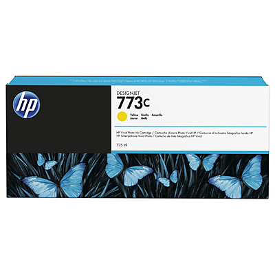 HP 773C 775-ml Yellow DesignJet Ink Cartridge