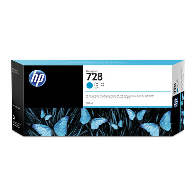 HP 728 300ml Cyan Ink Cartridge