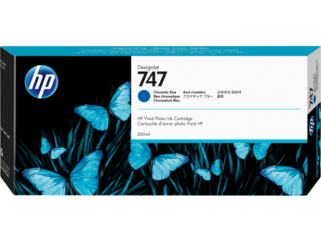 HP 747 300-ml Chromatic Blue DesignJet Ink Cartridge P2V85A