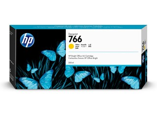 HP 766 300-ml Yellow DesignJet Ink Cartridge